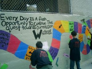 SwirlNYC volunteers help with school revitalization in the Bronx